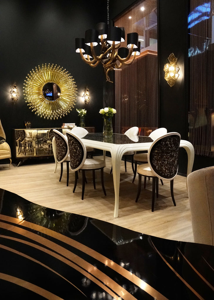 Special Item: Merveille Real Feather Dining Table by KOKET