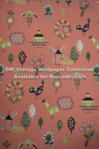 Authentic 1960's Reproduction Vintage Wallcoverings