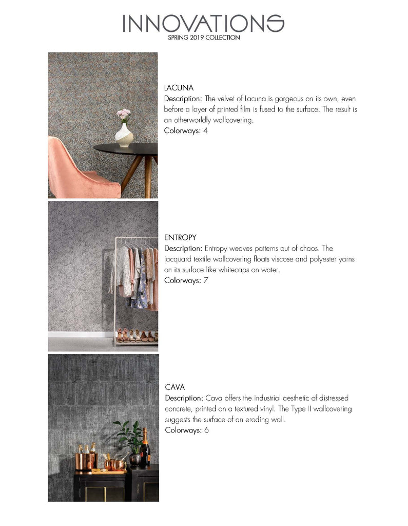 Innovations in Wallcoverings - Spring 2019