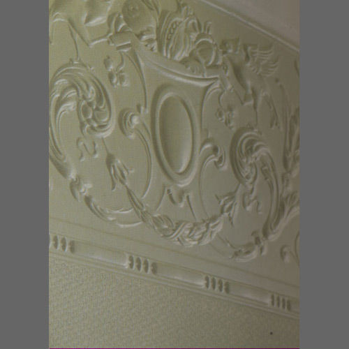 Embossed paintable Annette frieze wallcovering