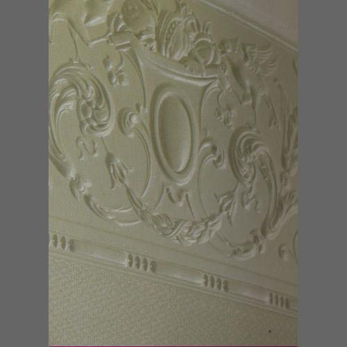 Embossed paintable Linzeti frieze wallcovering