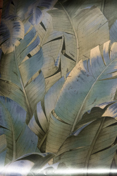 Beverly Hills Beach - Metallic Taupe Brown Silver Palm Leaves