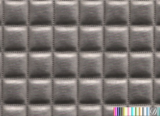 Ballina Quilted Square Metallic Upholstery Vinyl