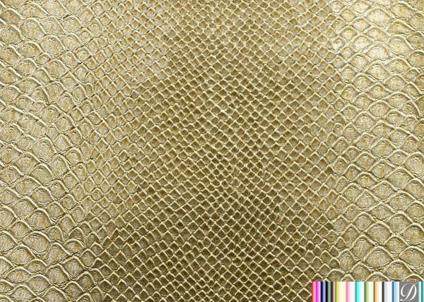 Stirling Lizard Animal Metallic Upholstery Vinyl