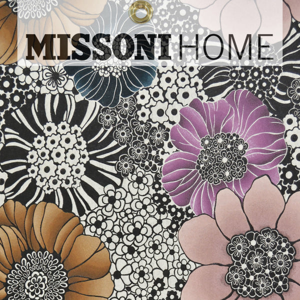 Missoni Home Anemones Wallpaper - Pearl/Black/Multi