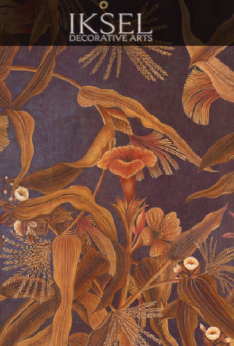Japanese Cornflowers Chinoiserie Wall Panels