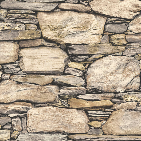 Ulyses Stone Wall by Peel & Stick