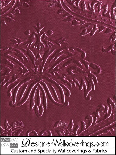 Dougherty Drive - Embossed Damask Vinyl Wallpaper