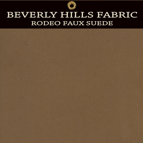 Beverly Hills Rodeo Faux Suede - Light Java Brown