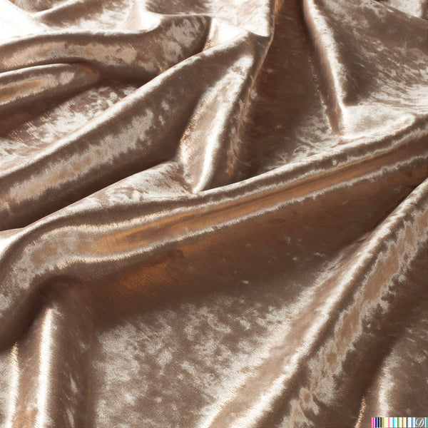 Silia Shiny Solid Cut Velvet