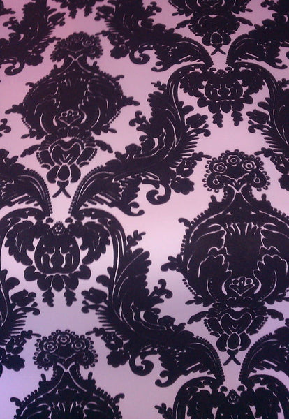 Savvy Damask  Flock on Black Flock on Purple - Custom