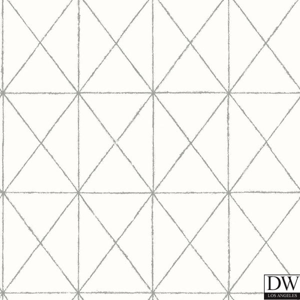 Intersection White Geometric Wallpaper