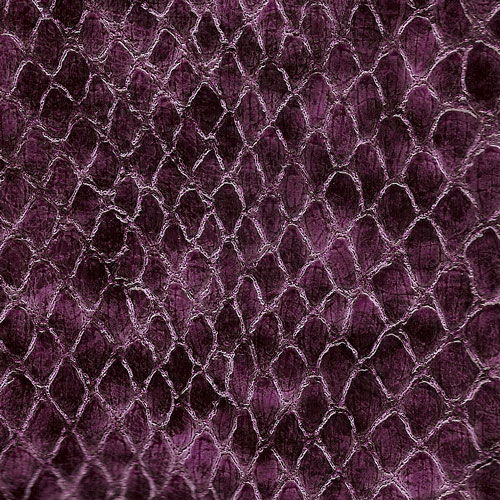 Anaconda Snake Patent Upholstery Vinyl - Grape