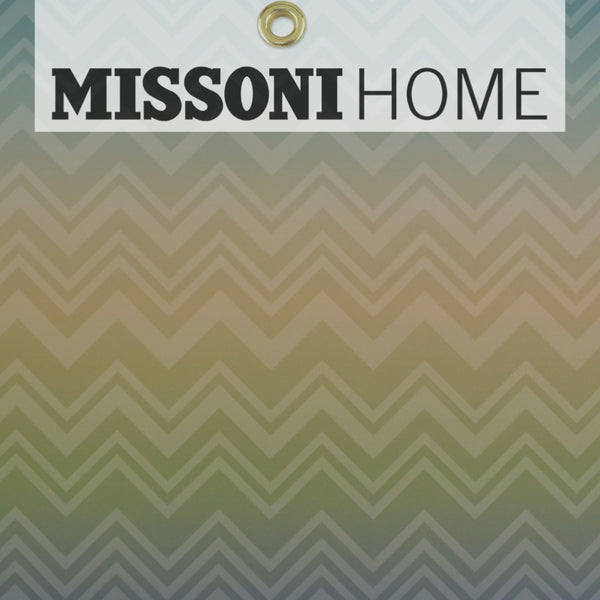 Missoni Home Zig Zag Sfumato Wallpaper - Green Ombre