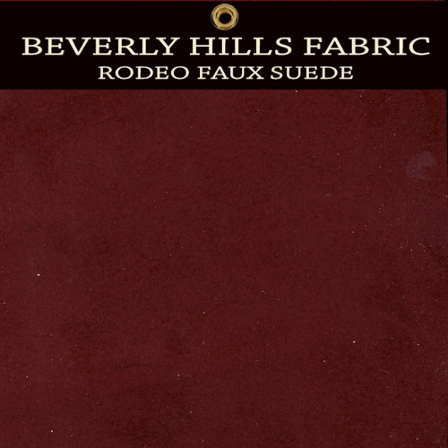 Beverly Hills Rodeo Faux Suede - Chianti Wine Red