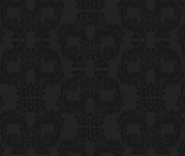 Noah Skulls for Bars - Black  Print on Black Mylar - - Pattern D