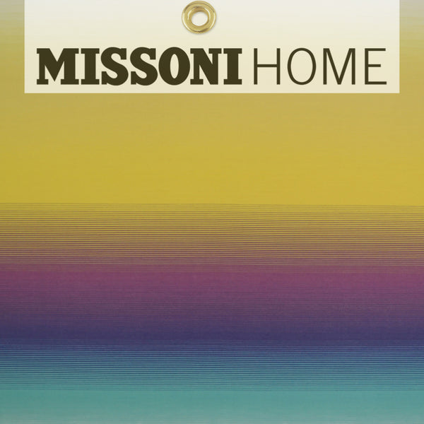 Missoni Home Riga Sfumato Wallpaper - Aqua/Violet/Yellow