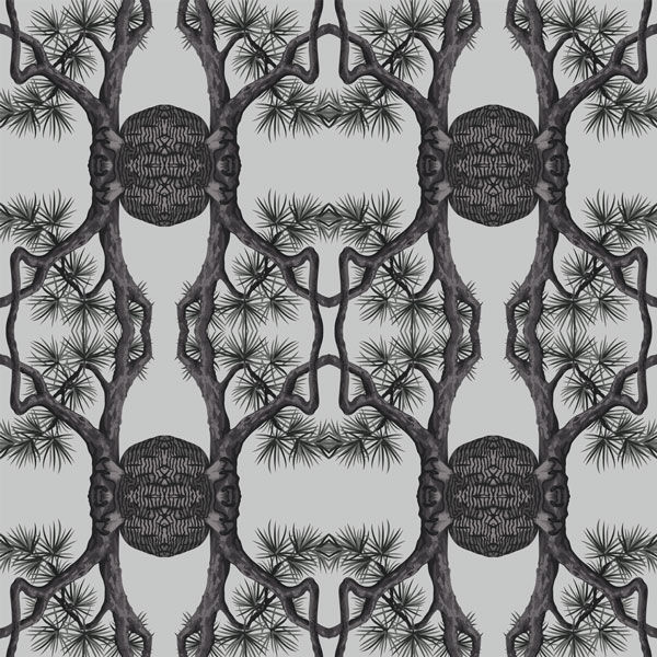 Black Forest Wall Paper - 04 Cool Tones - Pattern Design Lab