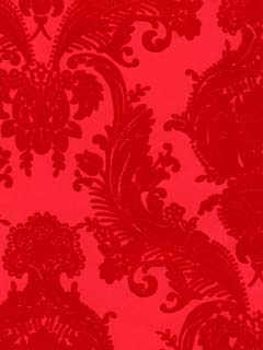 Classic Victorian Red on Red - Tone on Tone Damask