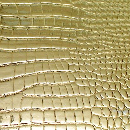Faux Commercial Shiny Gold Embossed Vinyl - Texture Animal