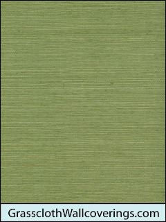 Sansai Sisal Grasscloth-Lime Green