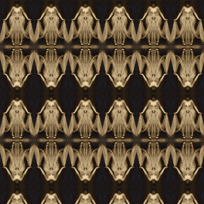 Mamamolio - Sepia Print on Black - Pattern Design Lab