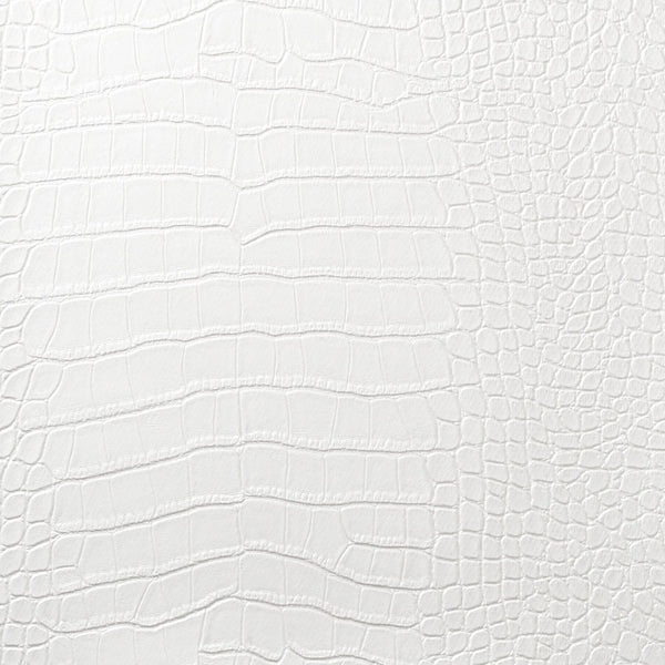 Le Embossed Croc - White