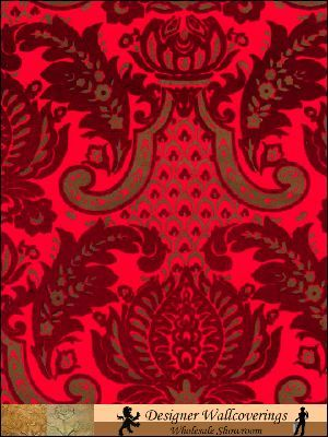 The Robbie - Gold and Red Heirloom Damask - Gold/Red
