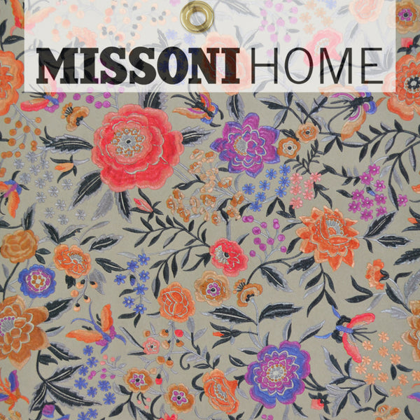 Missoni Home Oriental Garden Wallpaper - Warm Grey/Orchid/Coral