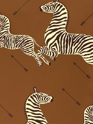 Zoe's Zebra Wallpaper - Brown by Scalamandre
