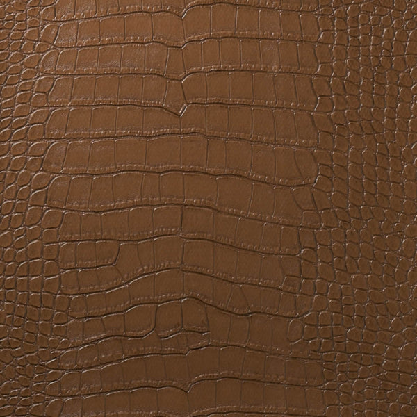 Le Embossed Croc - Deep Spice Brown