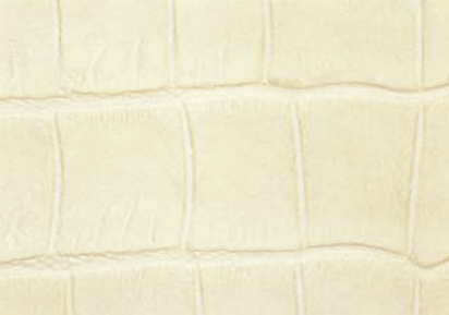 Crocodile Faux Leather - Ivory