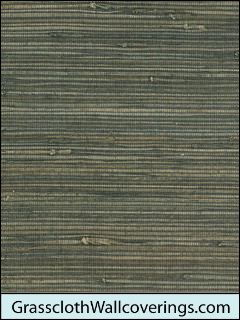 Rough Weed Grasscloth-Chocolate Brown Grass and Jute