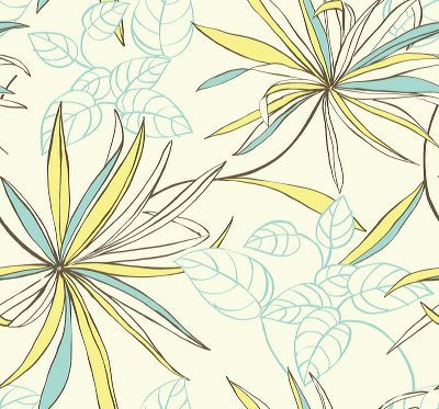 Abstract Flower Wall Paper - 01