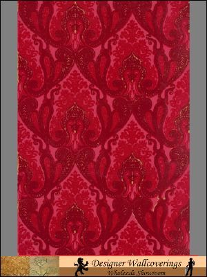 Gable Velvet Flocked Wall Paper