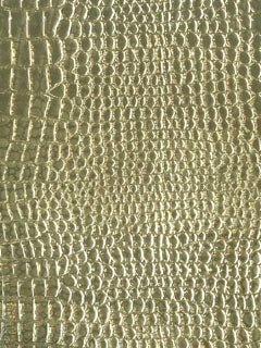 Faux Metal Embossed Lizard Skin - 54""
