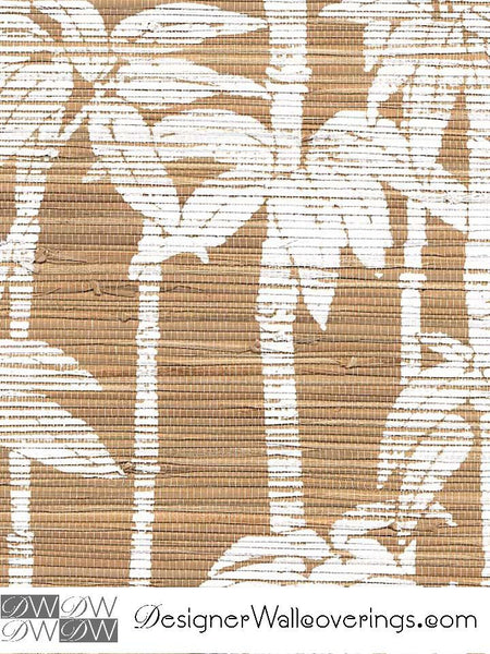 Kulua Bamboo Stripe on Grasscloth