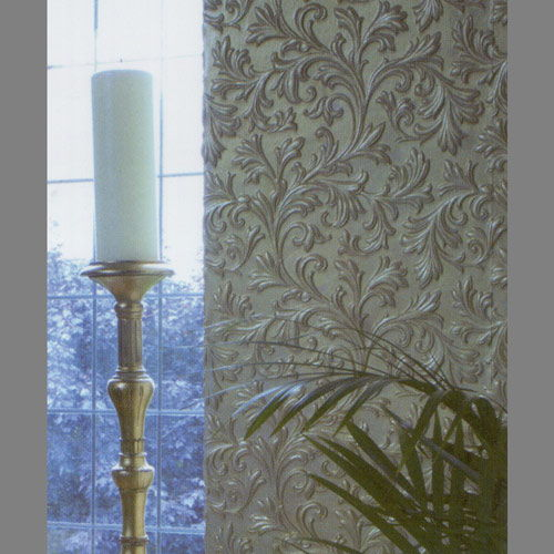 Embossed paintable Amy Acanthus Krusta wallpaper