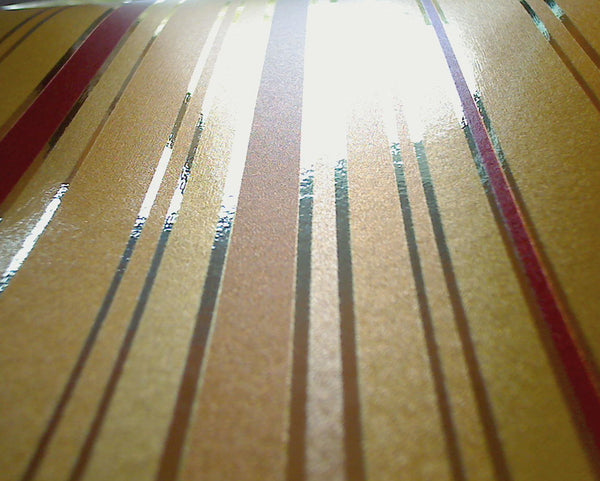 Metalisimo Gold Stripes - Custom Gold Mylar Print