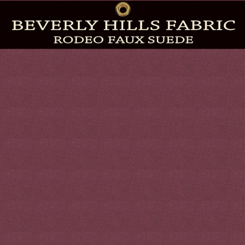 Beverly Hills Rodeo Faux Suede - Merlot Wine Red
