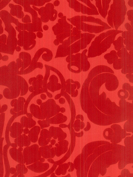 Traditional Large Victorian Red on Red - Tone on Tone Damask