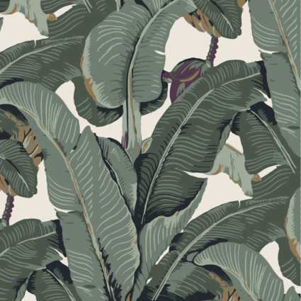The Iconic Beverly Hills™ Banana Leaf Wallpaper - Oxford Olive Green - Designer Wallcoverings and Fabrics