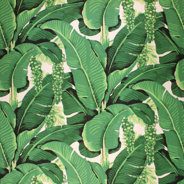 Cote D'Azure Brazilliance - Brilliant Banana Leaves & Grapes - Designer Wallcoverings and Fabrics
