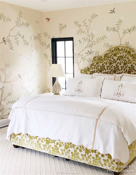 Bella Birds & Blossoms Cream by Et Cie Wall Panels