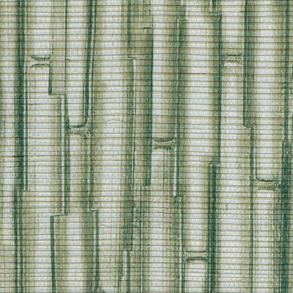 Sagano Bamboo Print on Raffia Wallpaper