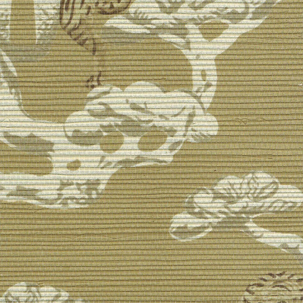 Sumatra Chinoiserie on Raffia Wallpaper