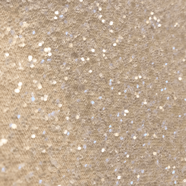 Hollywood Glamour Sequin Ivory and Clear Glitter - Designer Wallcoverings and Fabrics