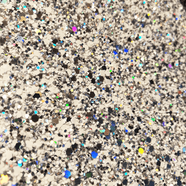 Hollywood Glamour Sequin White Rainbow Glitter
