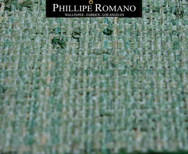 Heavy Madagascar Green Washed by Phillipe Romano Naturals Raffia Wallpaper - Milano Madagascar Collection