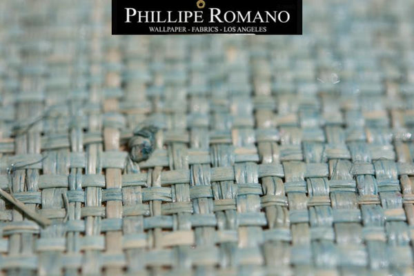 Fine Madagascar Tropical Teal by Phillipe Romano Naturals Raffia Wallpaper - Milano Madagascar Collection